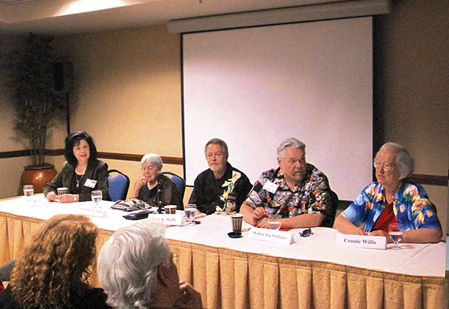 Locus Panel with Kress, Le Guin, Wolfe, Williams, Willis